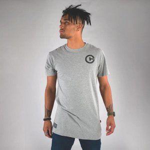 Cuzy T Men's Grey Short Sleeve Print T-Shirt